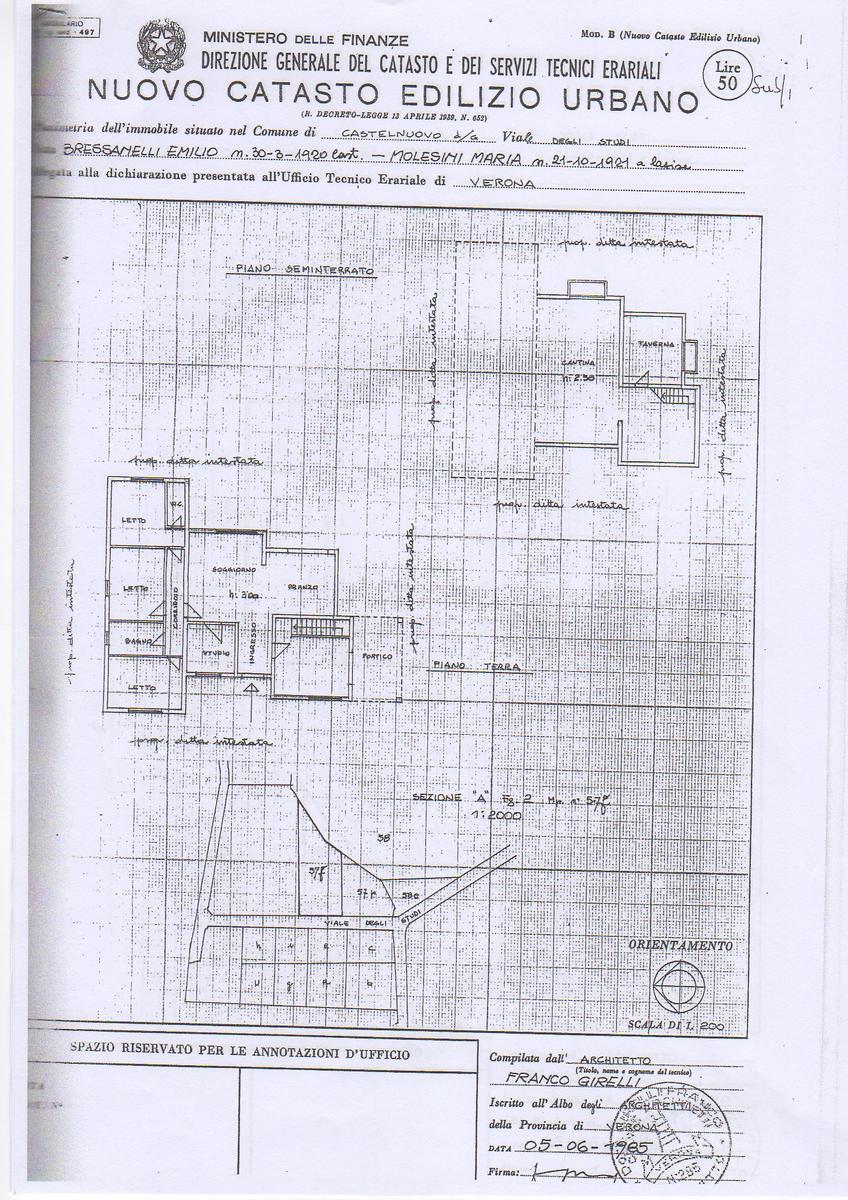 Planimetria Vendita villa Castelnuovo Del Garda