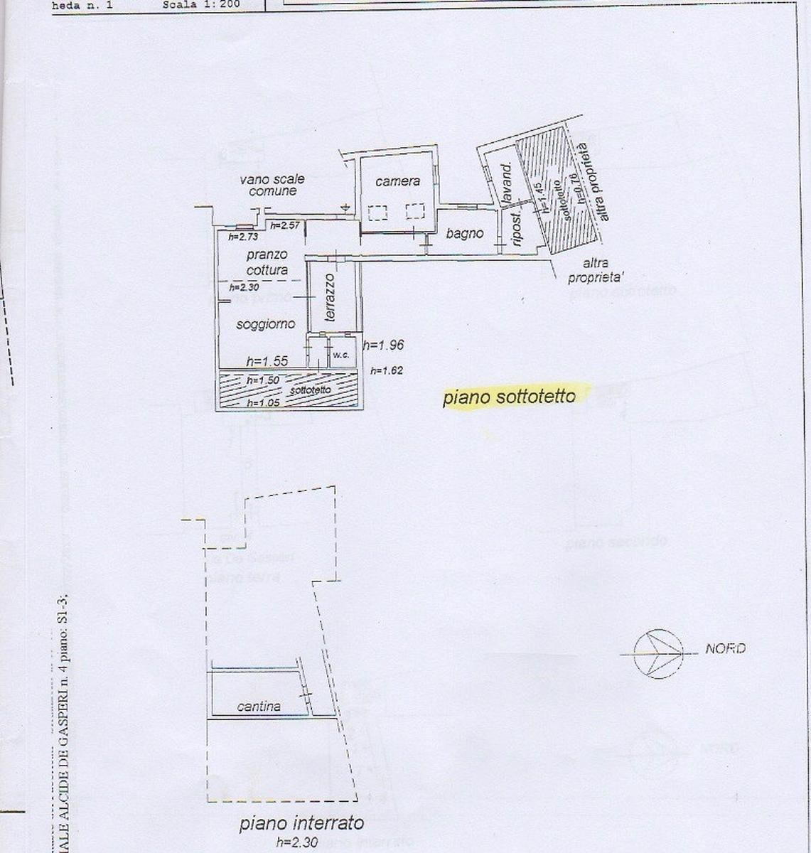 Planimetria Vendita mansarda Bussolengo